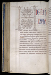 Pen-Drawn 'Byzantine Blossom' Initial, In The Four Gospels
